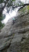 Rock Climbing Photo: I know...my leg is in a bad position. Bad me.  Pho...