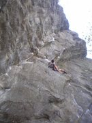 Rock Climbing Photo: On of the best rests in Rumney :)