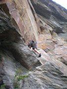 Rock Climbing Photo: Entering the layback corner.