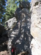 Rock Climbing Photo: Depicting bolts and anchors that we found at the f...
