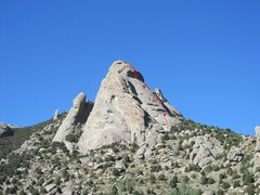 Rock Climbing Photo: Anchor locations are approximate. Pitch 2 is reall...