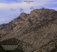 Rock Climbing Photo: Palisade Mountain from the Round Mountain Summit A...
