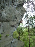 Rock Climbing Photo: Andrew heading up the aesthetic line of Social Out...