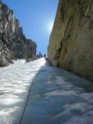 Rock Climbing Photo: North Peak ice gully.