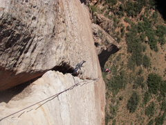 Rock Climbing Photo: Down on P4