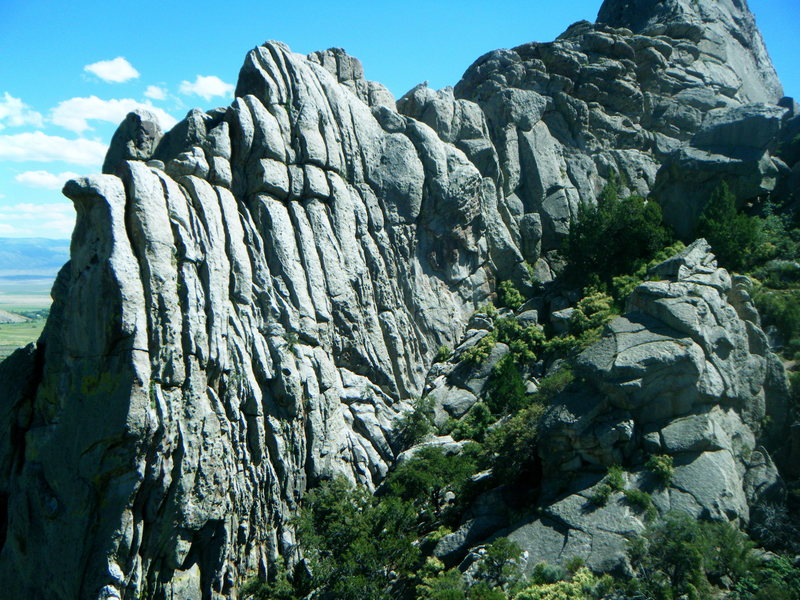 Rock Climbing Photo: Panorama of Crack House
