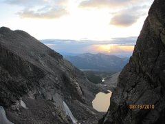 Rock Climbing Photo: Dawn from the North Chimney