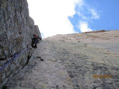 Rock Climbing Photo: Leading the first part of the classic 5.8 corner, ...