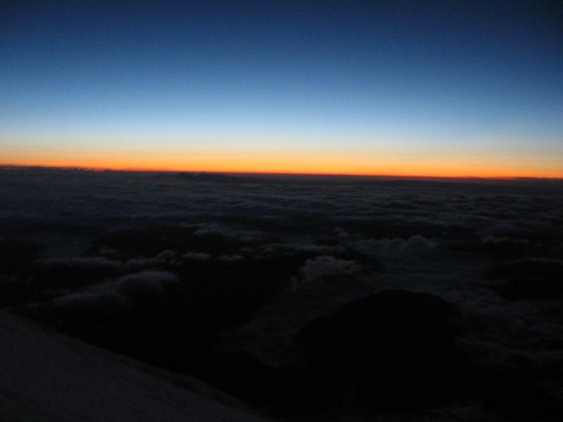 Rainier just before sunrise