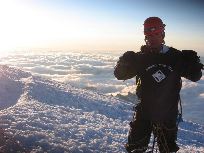 Rock Climbing Photo: Erik on the Summit of Rainier