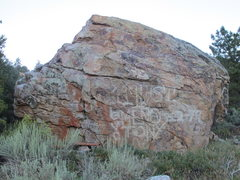 Rock Climbing Photo: Aggro Crag Boulder (South Face)