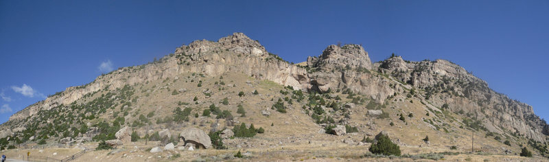 Sinks Canyon Panoramic taken from the overflow parking lot