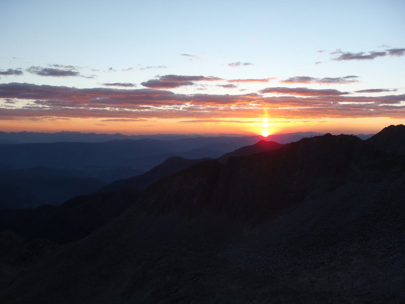 Here comes the sun, from above 12,000' On the way up capitol peak last sunday.