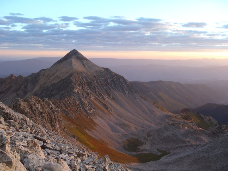 first light on mt daly, on the way up capitol.