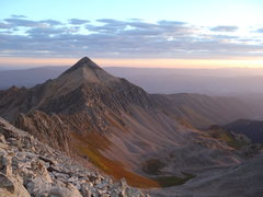 Rock Climbing Photo: first light on mt daly, on the way up capitol.