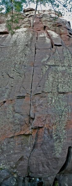 Rock Climbing Photo: This line is perfect. I saw the chalked seam and d...