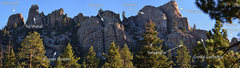 Rock Climbing Photo: Formations of Church Dome, viewed from near the en...