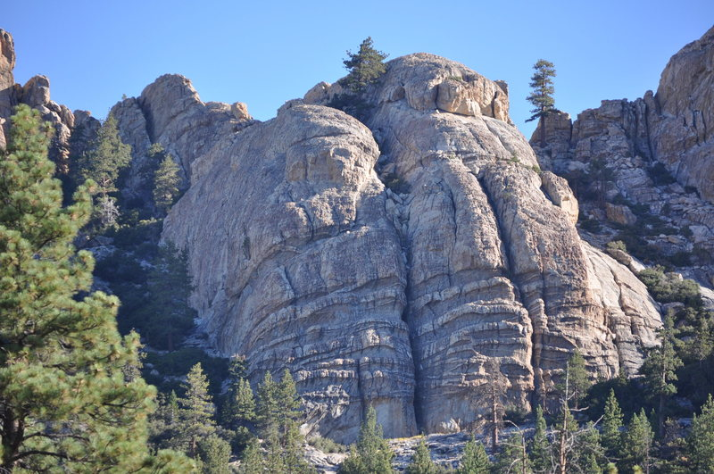 Rock Climbing Photo: The Rectory, as seen from the end of the fire road...