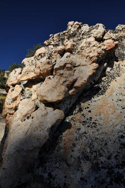 Platy granite boulder, Church Dome