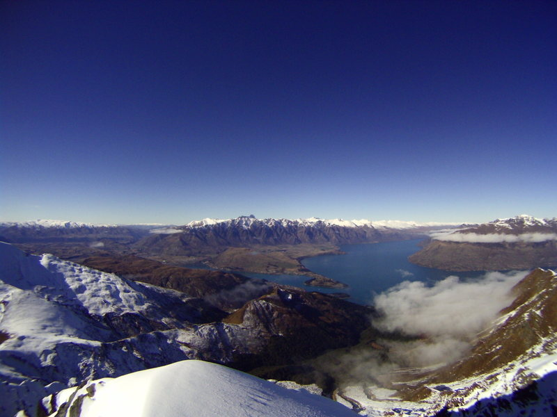 Summit of Mt Ben Lemond - Southern Alps of New Zealand