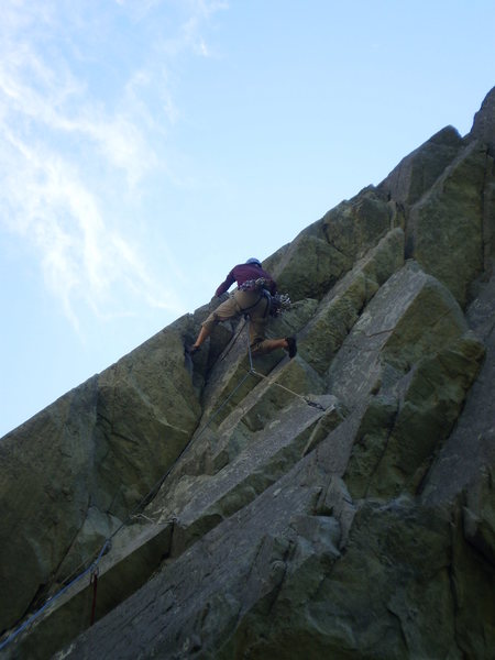 Rock Climbing Photo: Pulling the roof on Maiden Voyage