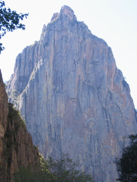 El Gigante from further up Candameña Canyon.