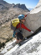 Rock Climbing Photo: Lisa Pritchett Leading the Southwest Buttress