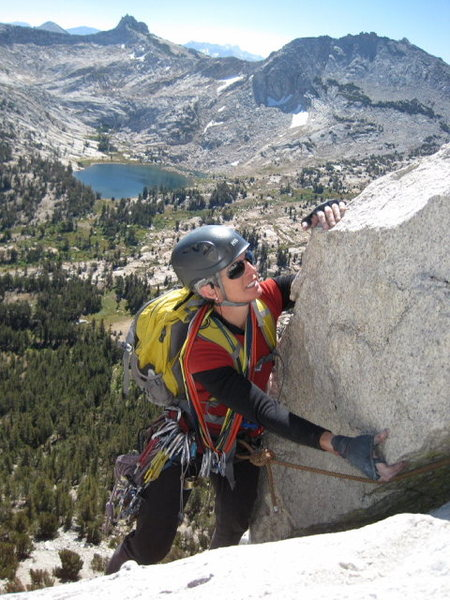 Rock Climbing Photo: Joan Bertini on the Southwest Buttress