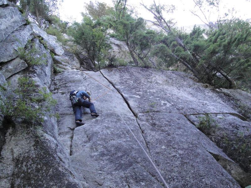 Rock Climbing Photo: following P5