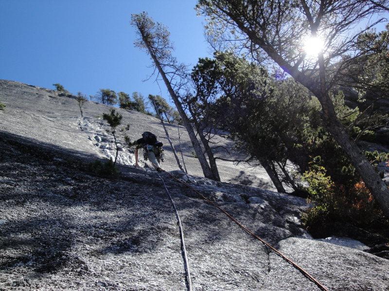 Rock Climbing Photo: 5.7 dyke pitch