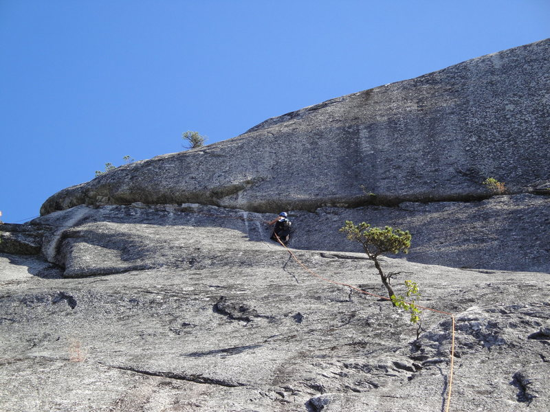 Rock Climbing Photo: Paige about to tackle the 5.10 crack to the top at...