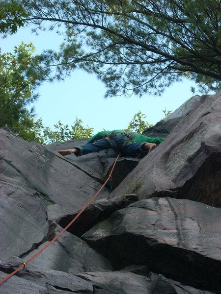 Rock Climbing Photo: Barefoot Rhoads.