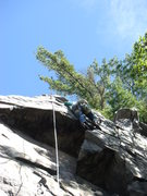 Rock Climbing Photo: Rhoads just past the dihedral.