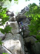"""Rock Climbing Photo: Remo, wondering """"why?""""."""