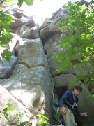 Rock Climbing Photo: Good shot of the whole route.