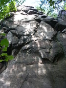 Rock Climbing Photo: Slimer climbs straight up this face.