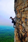 Rock Climbing Photo: Manny contemplating the moves up the arete on P2 o...