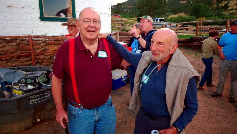 RMNP pioneers Charlie Elhert and Tom Hornbein party down in Estes Park last weekend.
