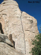 Rock Climbing Photo: Rex (5.12c), Keller Peak