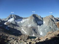 Rock Climbing Photo: Darwin, Mendel & 13,360 from Lamark Col