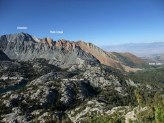 Rock Climbing Photo: Emerson, Piute Crags, and Lamark Lakes from the La...