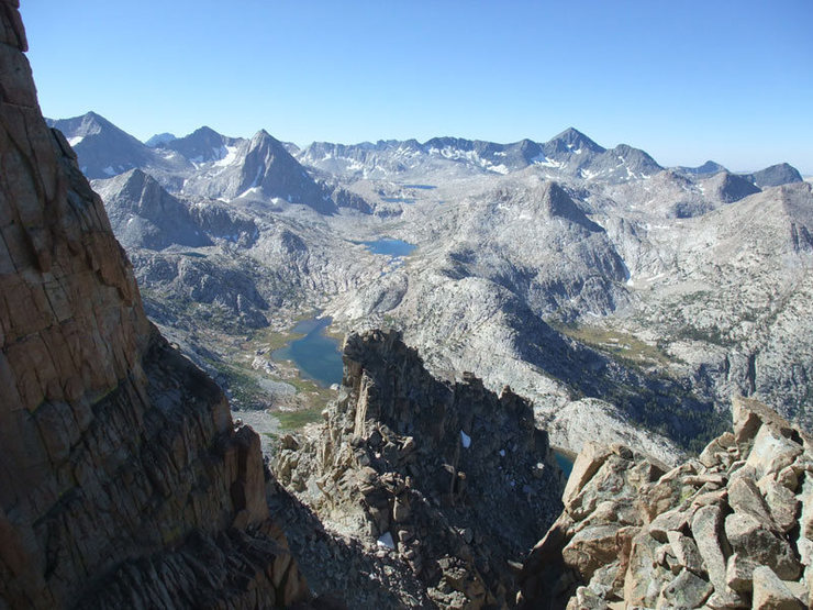 one of the notches on the ridge
