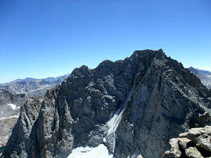 Rock Climbing Photo: Mendel from the 13,360 summit