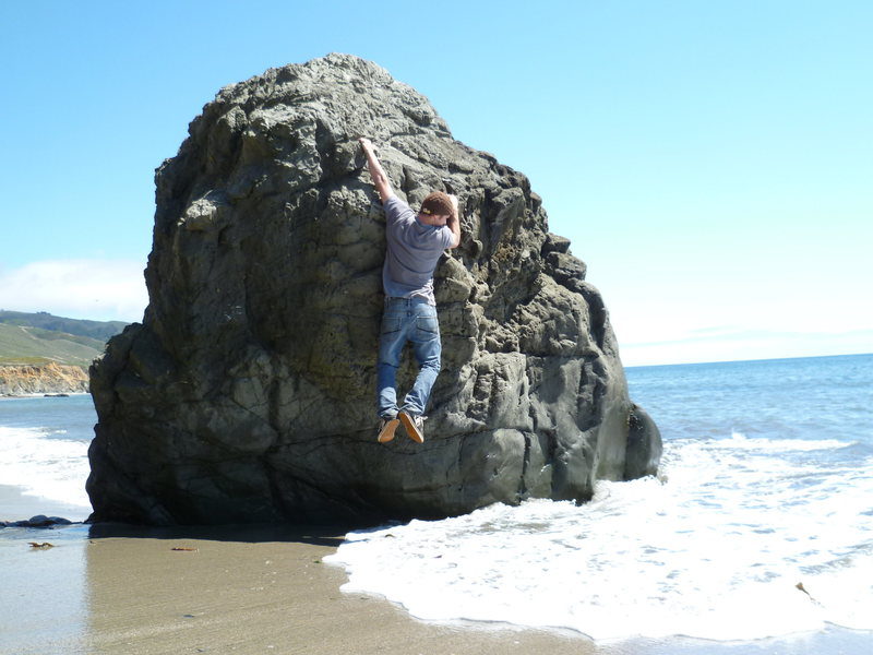 Rock Climbing Photo: Goofin around in Big Sur