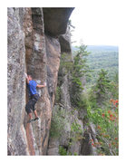 Rock Climbing Photo: Push-5.12C at Good Luck Lake Cliffs