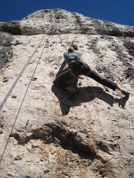 Rock Climbing Photo: Enjoying stellar pockets.