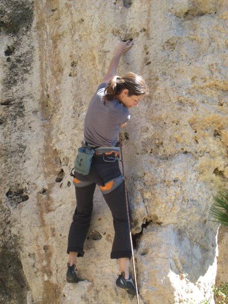Rock Climbing Photo: Starting up Little Buckaroo.