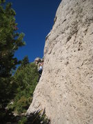 Rock Climbing Photo: Things get a lot more enjoyable above the slight b...