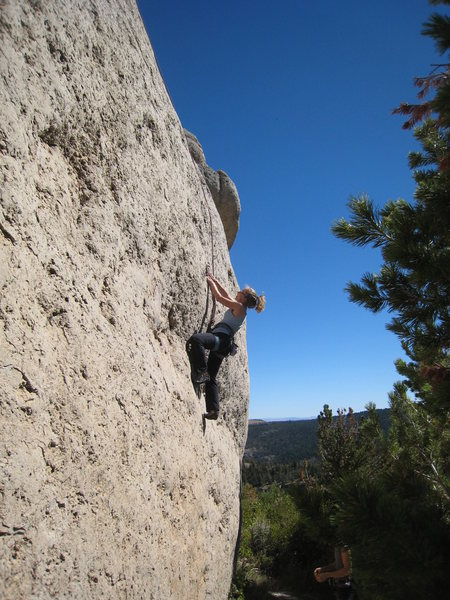 Rock Climbing Photo: The low crux bulge.