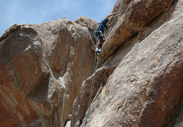 "Rock Climbing Photo: Todd Gordon on the FA of ""Horny for Ewe""..."